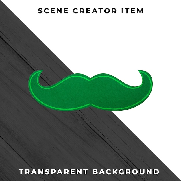 紙口ひげ装飾はクリッピングパスで分離されました。 無料 Psd