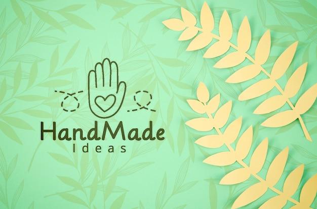 Fondo delle piante di carta fatto a mano con le felci Psd Gratuite