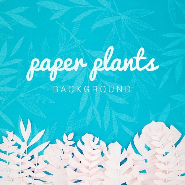 열 대 잎 종이 식물 배경 무료 PSD 파일