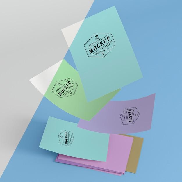 Макет бумажной поп-концепции Бесплатные Psd