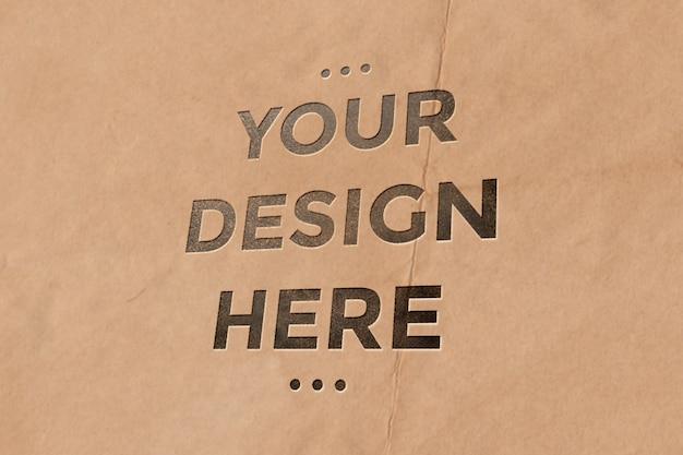 Paper pouch letterpress mockup Premium Psd