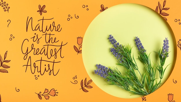 Paper shape with lavender inside Free Psd