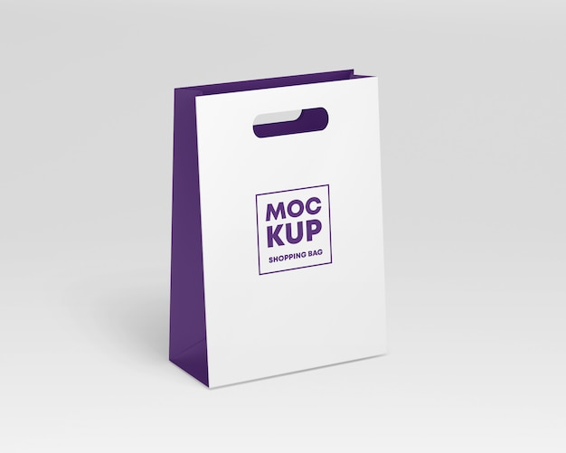 Paper shopping bag mockup Premium Psd