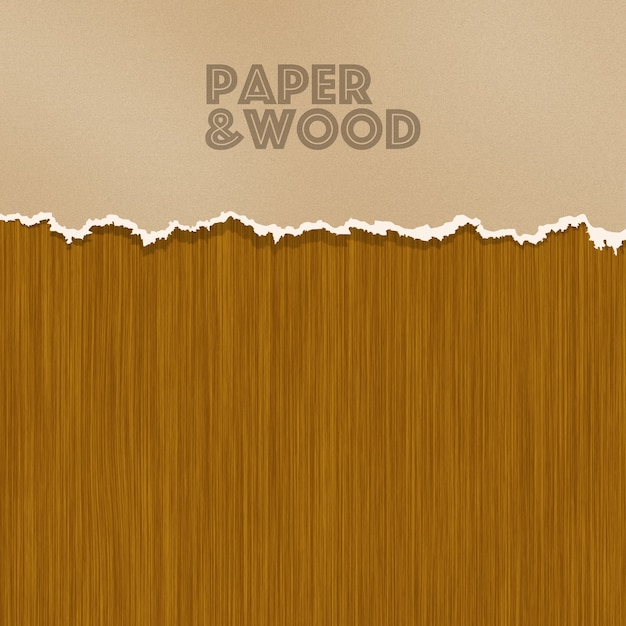 Paper and wood background Free Psd