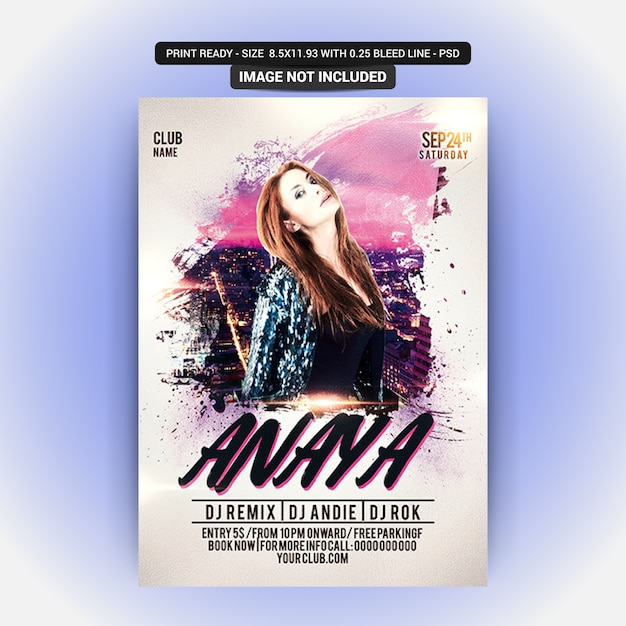 Party flyer template Premium Psd