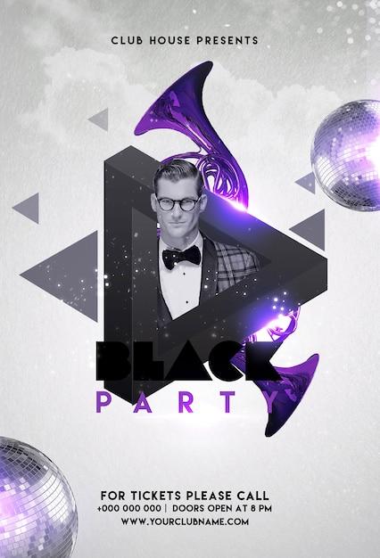 Party flyer Premium Psd