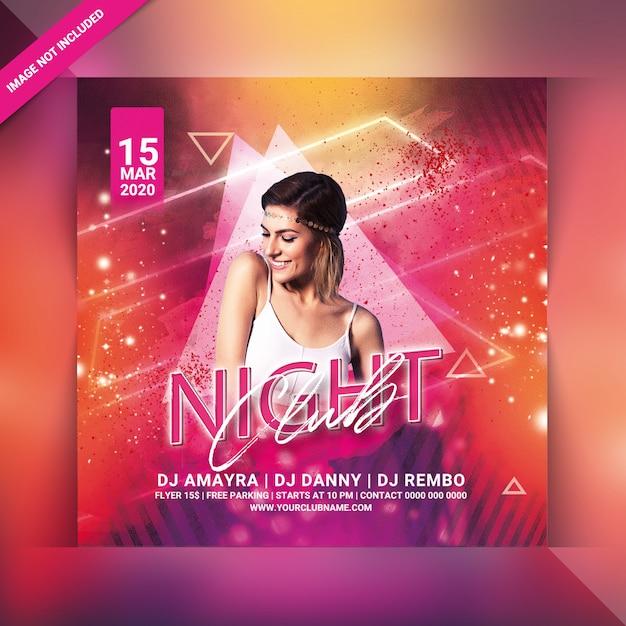 Ночной клуб party flyer Premium Psd