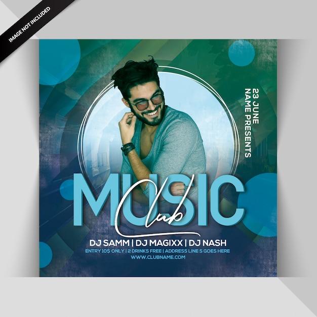 Музыкальный клуб party flyer Premium Psd