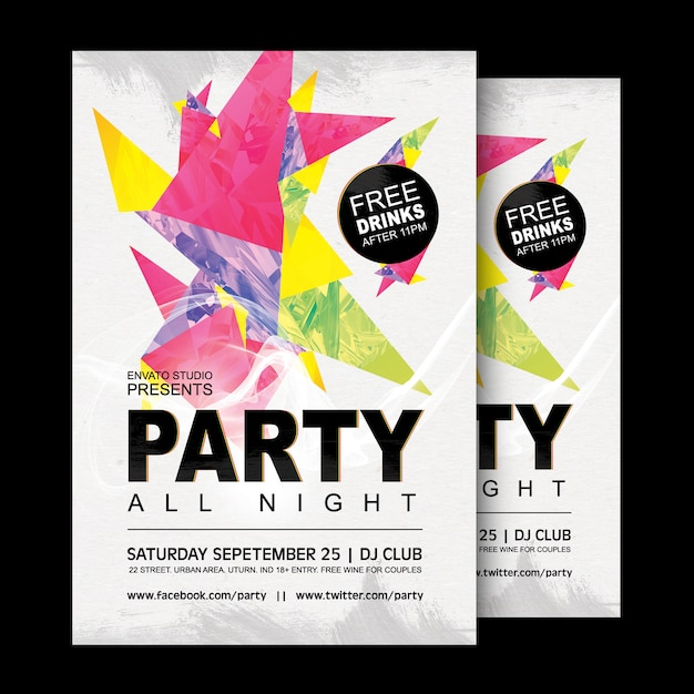 Party poster design psd file free download for Free poster design templates