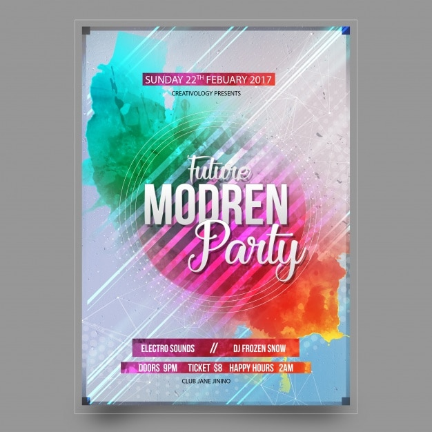 Party poster design Free Psd
