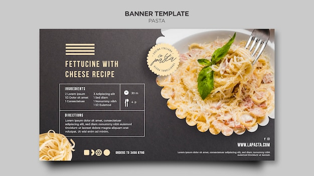 Pasta shop banner template Free Psd