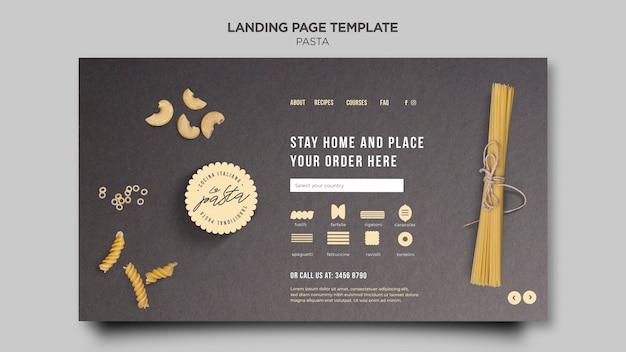 Pasta shop landing page template Free Psd