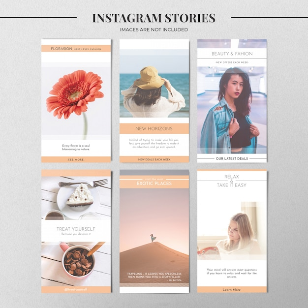 Pastel instagram story template Free Psd