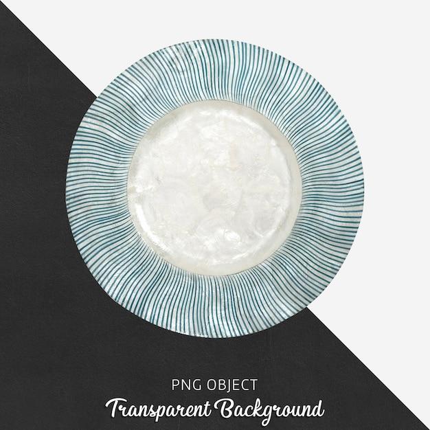 Patterned decorative serving plate on transparent Premium Psd