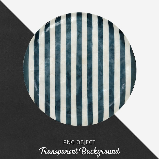 Patterned serving plate on transparent Premium Psd