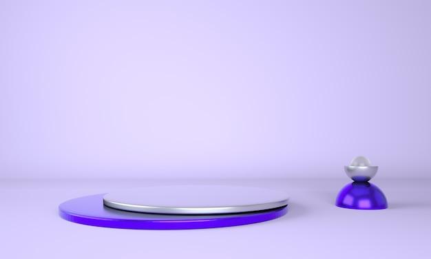 Pedestal for display, platform for design, blank product. 3d rendering. Premium Psd