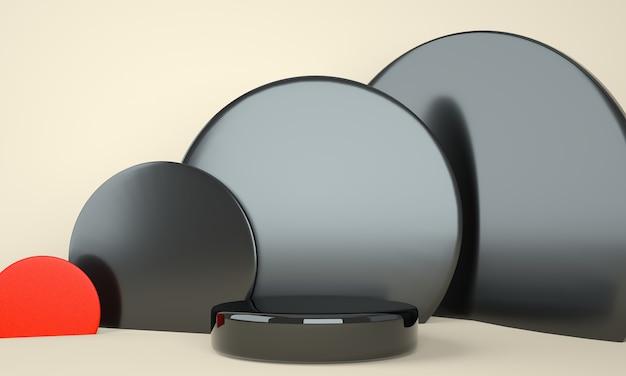 디스플레이 용 받침대, 디자인 용 플랫폼, 빈 제품 3d 렌더링 프리미엄 PSD 파일