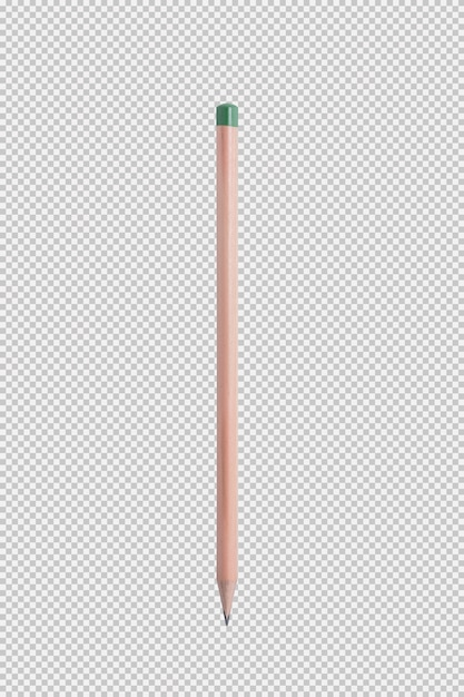 Pencil isolated on white background Premium Psd