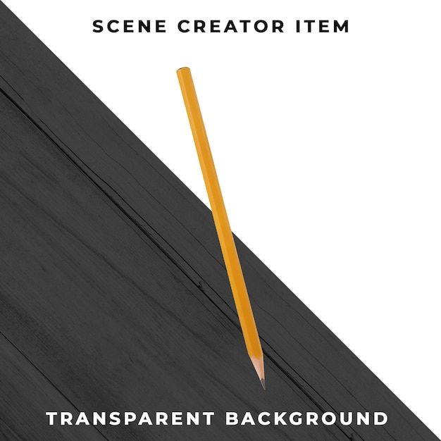 鉛筆オブジェクトの透明なpsd 無料 Psd