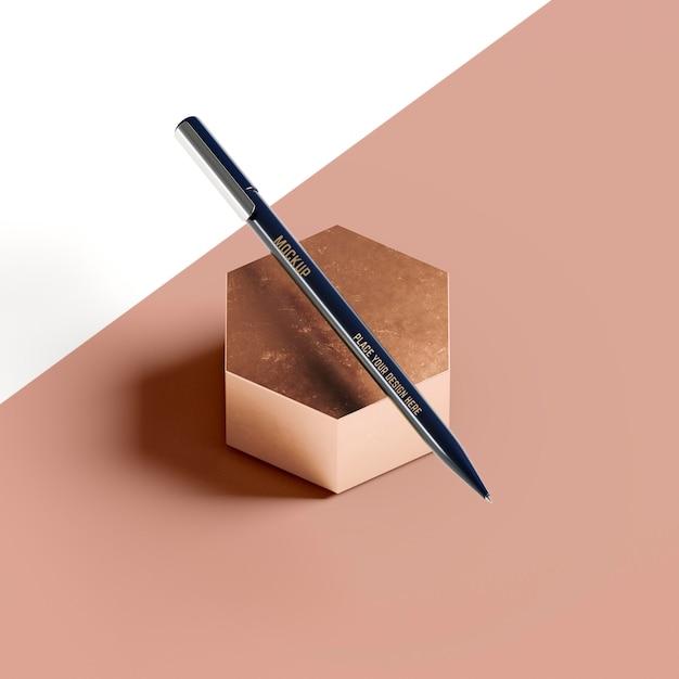 추상적 인 벌집 모양에 연필 무료 PSD 파일