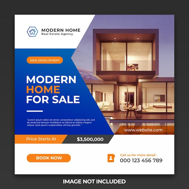 Perfect home for sale social media post and web banner template Premium Psd