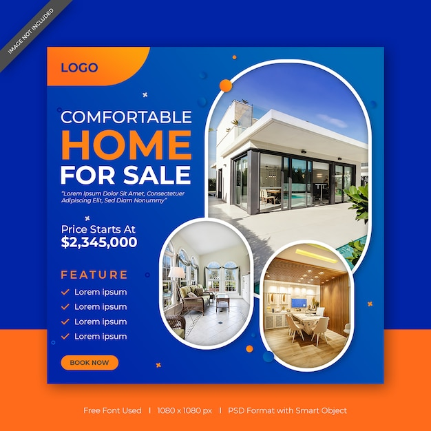 Perfect home for sale social media & web banner template Premium Psd