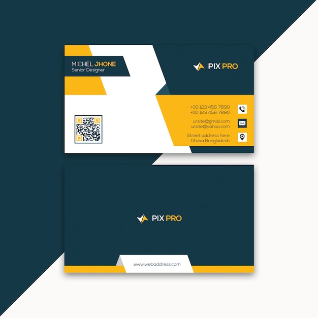 Personal business card template PSD file | Premium Download