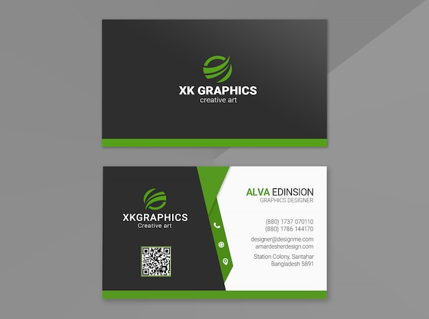 Personal business card Premium Psd