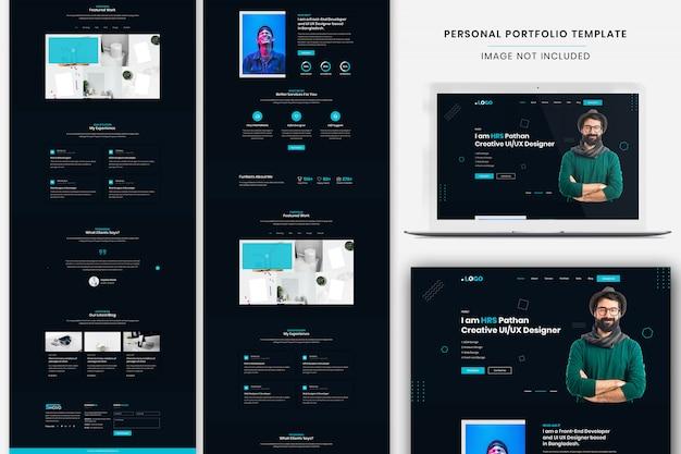 Premium Psd Personal Portfolio Landing Page Template