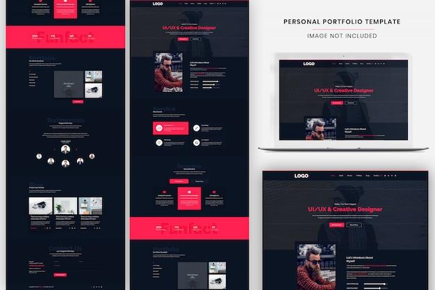 Personal portfolio landing page template Premium Psd