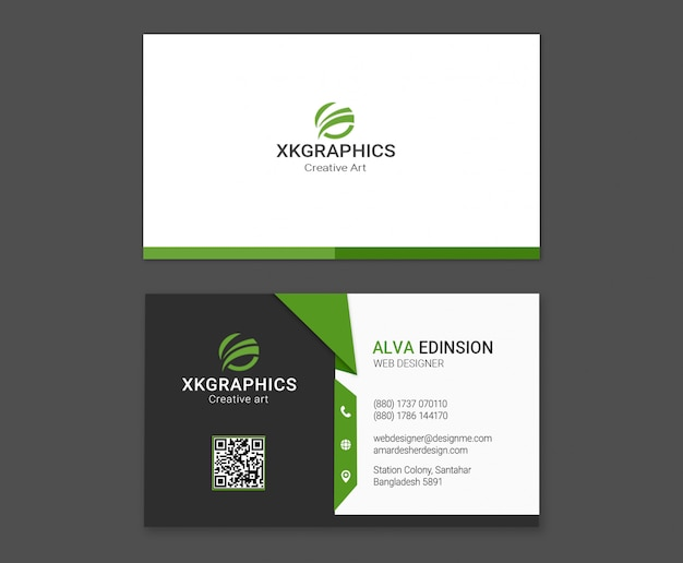 Personal Web Designer Business Card Psd File Premium Download