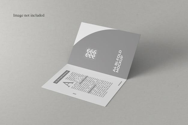 원근 A4 이중 접기 모형 프리미엄 PSD 파일