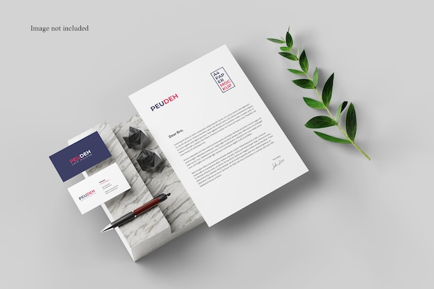 Perspective card and paper mockup Premium Psd