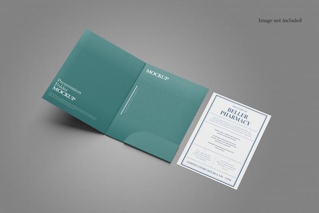 Perspective document folder mockup design Premium Psd