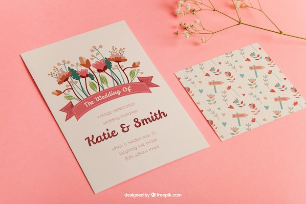 Perspective Stationery Wedding Mockup Psd File Free Download