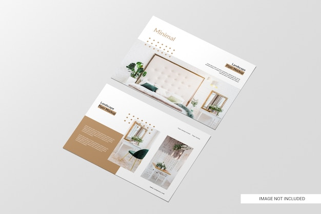 Perspective view flyer mockup Free Psd