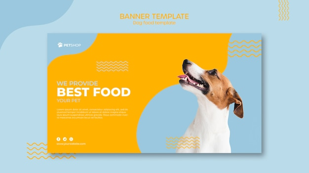 Pet shop banner template concept Free Psd