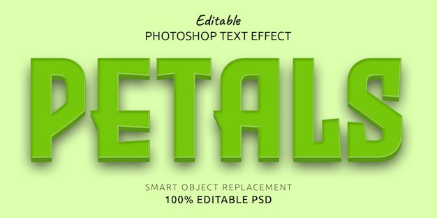 Petals editable text style effect Premium Psd