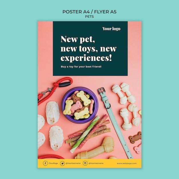 Тема шаблона плаката с домашними животными Бесплатные Psd