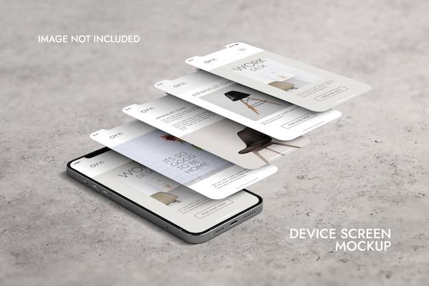 전화 및 화면-ui ux 앱 프레젠테이션 목업 무료 PSD 파일