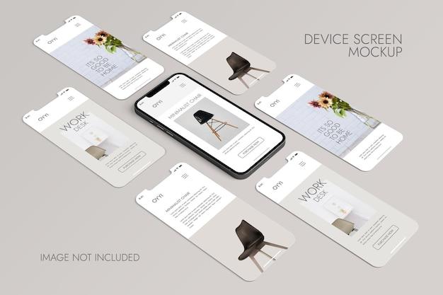 Телефон и экран - мокап презентации приложения ui ux Бесплатные Psd