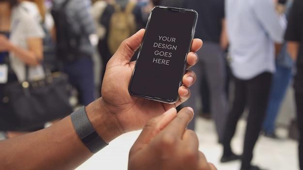 전화 디스플레이 이랑 무료 PSD 파일