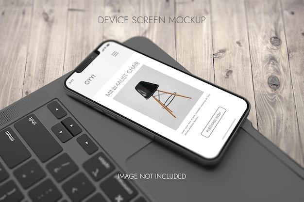 전화 화면-장치 목업 무료 PSD 파일