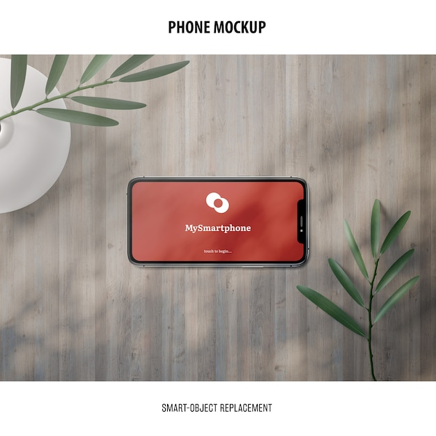 Phone screen mockup Free Psd