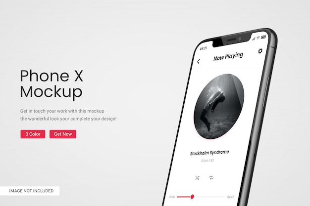 電話画面のモックアップ Premium Psd