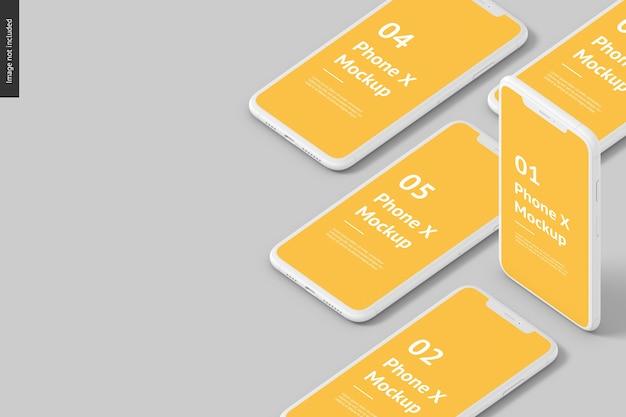 Phone screen mockup Premium Psd