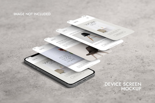 Phone and screen - ui ux app presentation mockup Free Psd