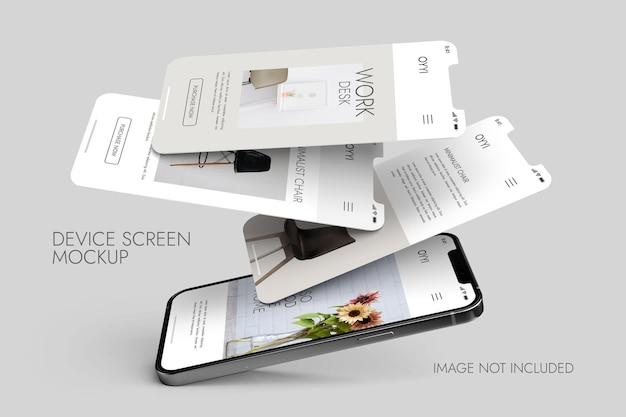 Phone and screen - ui ux app presentation mockup Premium Psd