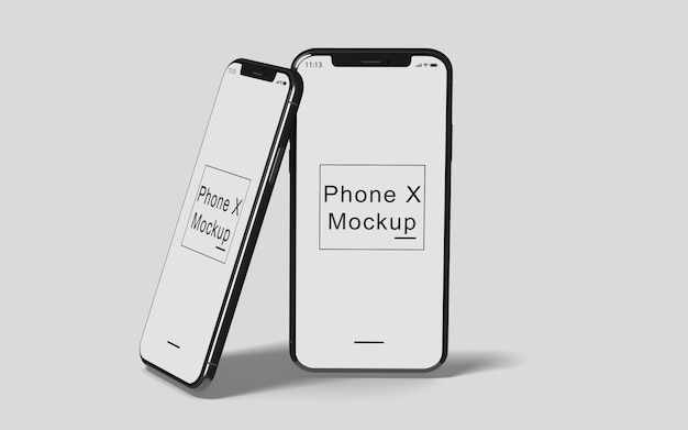 전화 X 모형 프리미엄 PSD 파일