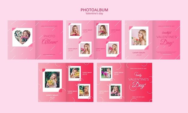 Концепция фотоальбома для шаблона дня святого валентина Бесплатные Psd